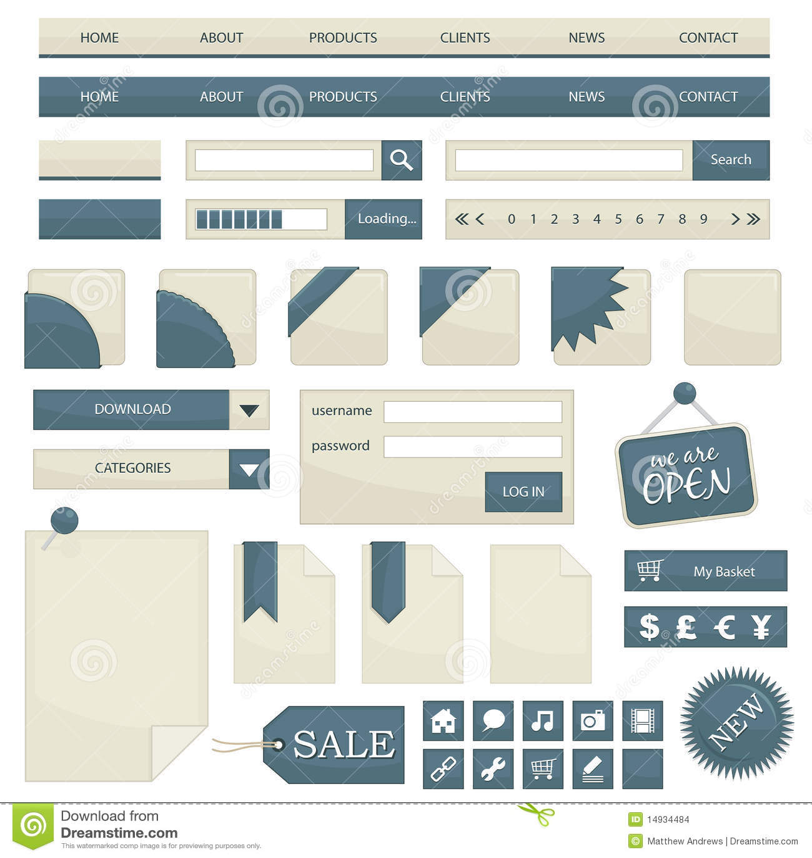 De voorwerpen van het Web