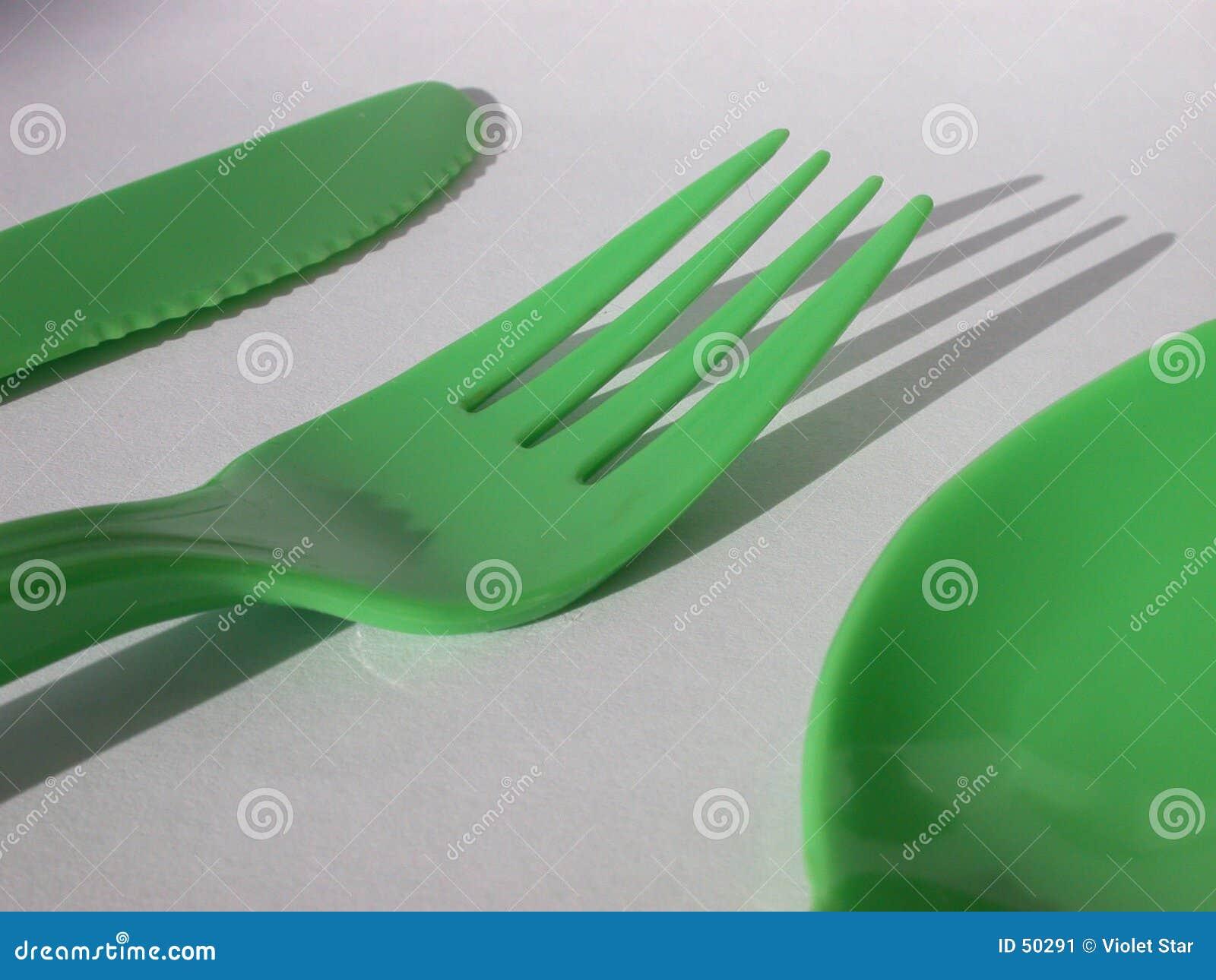 De vork en de lepel van het mes