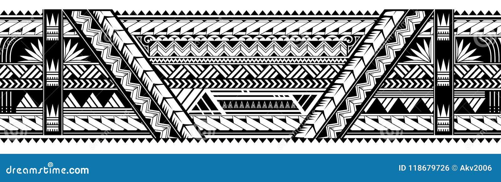 De vorm van de de armbandtatoegering van de Maoristijl
