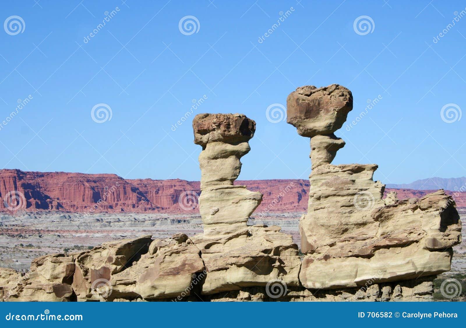 De Vormingen van de rots