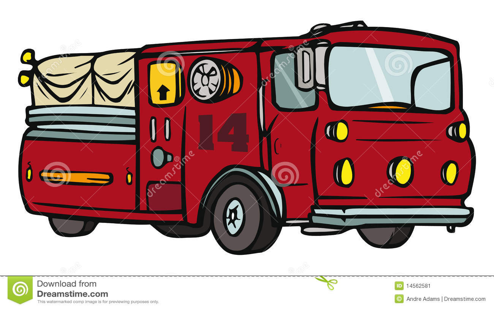 De vrachtwagen van de brand