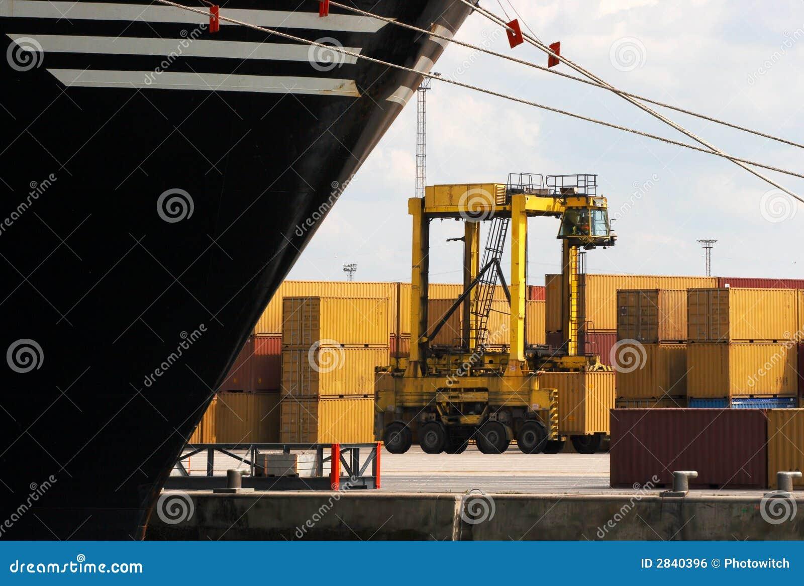 De vrachtwagen van de container
