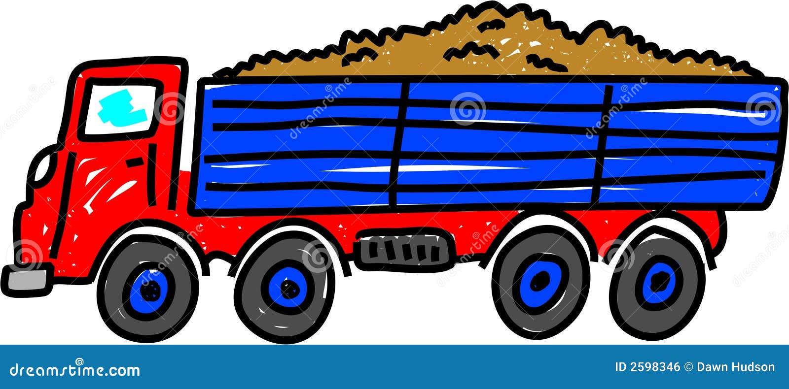De vrachtwagen van de kipper