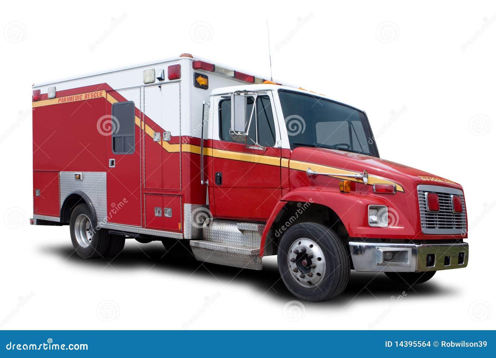 De Vrachtwagen van de Redding van de Brand van de ziekenwagen
