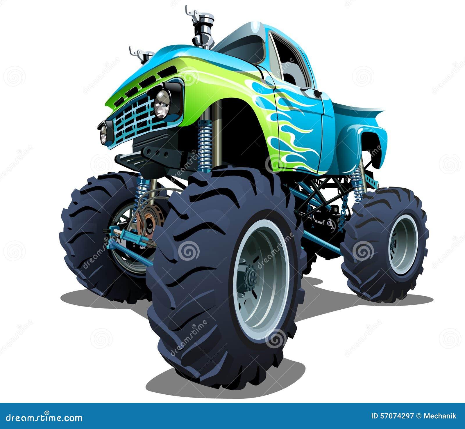 De Vrachtwagen van het beeldverhaalmonster