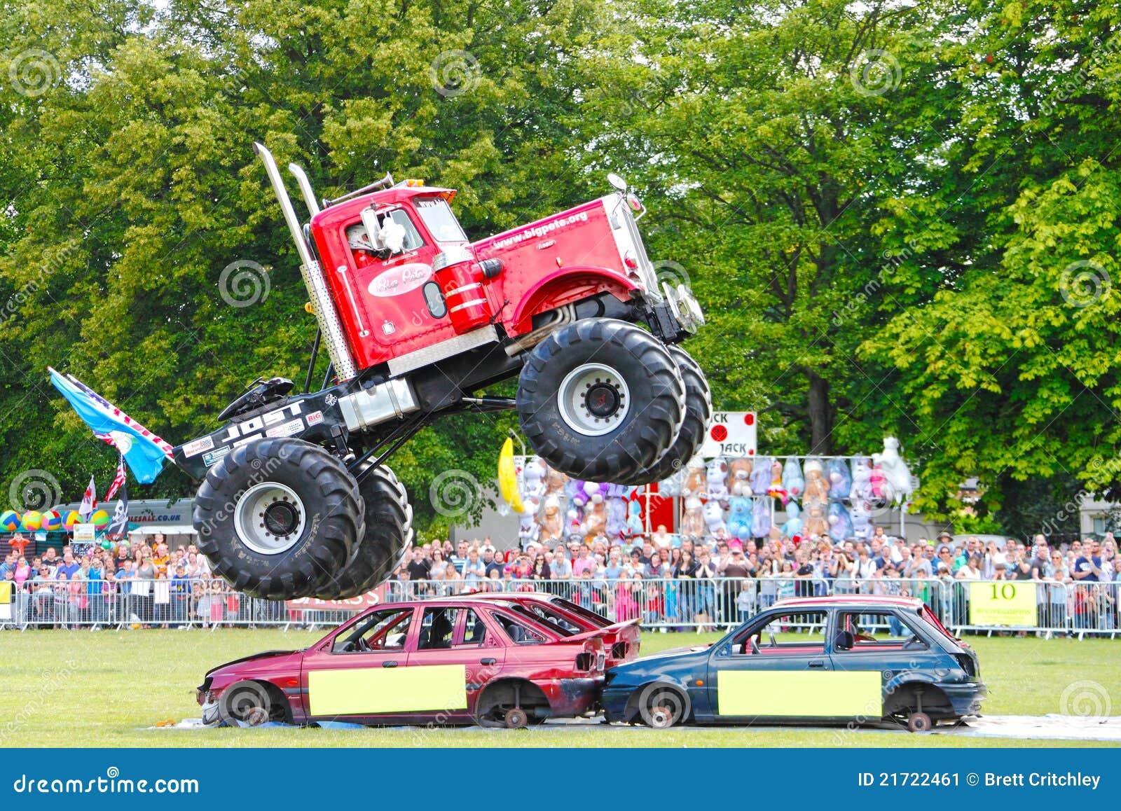 De vrachtwagen van het monster