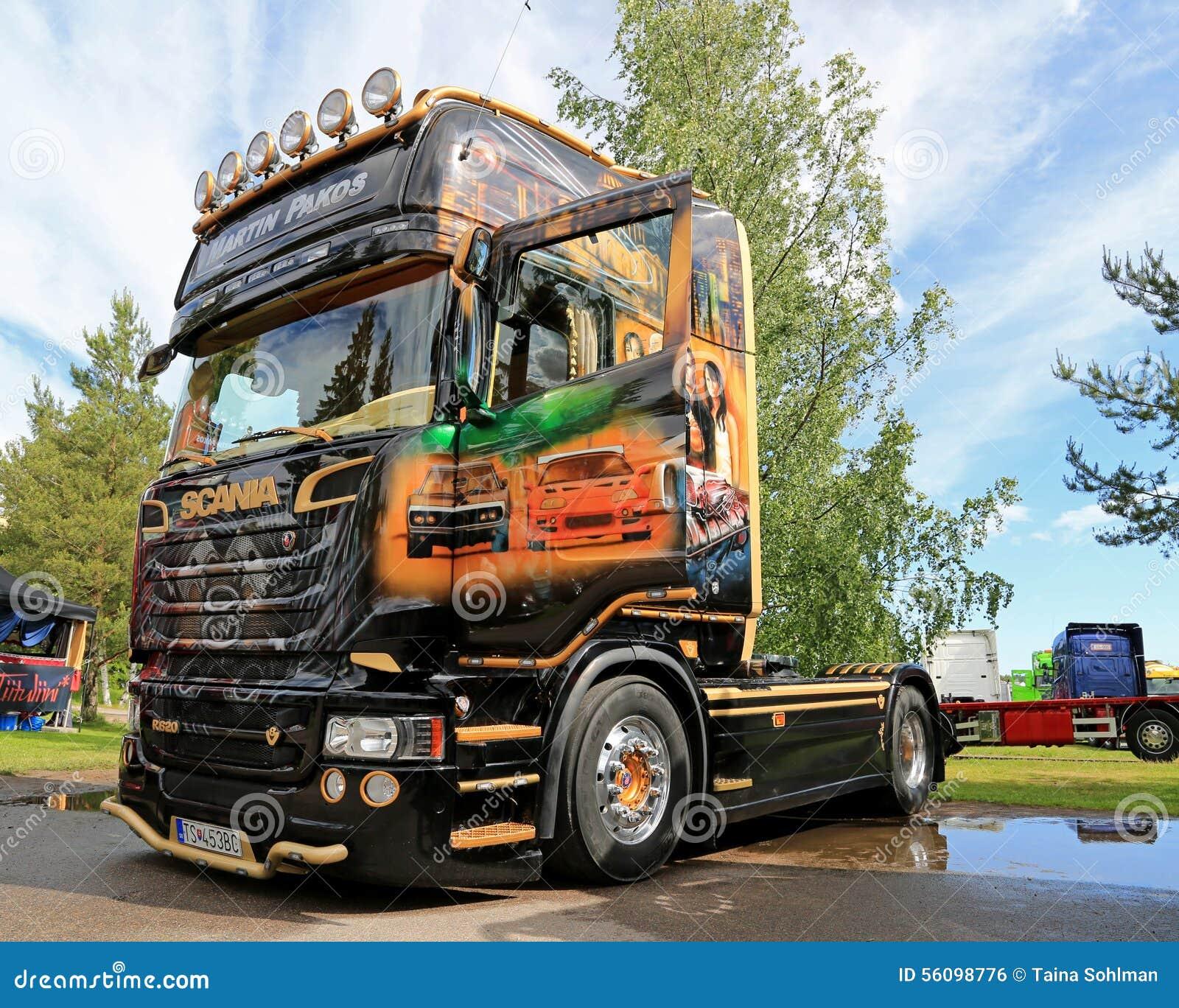 Connu De Vrachtwagen Van Scania R620 V8 Van Martin Pakos Op De  UV12