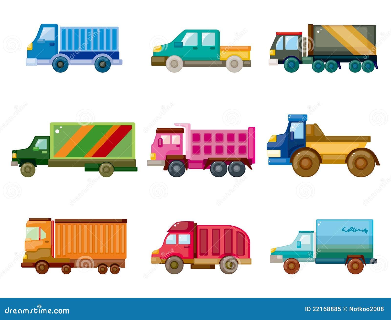 De vrachtwagenpictogram van het beeldverhaal