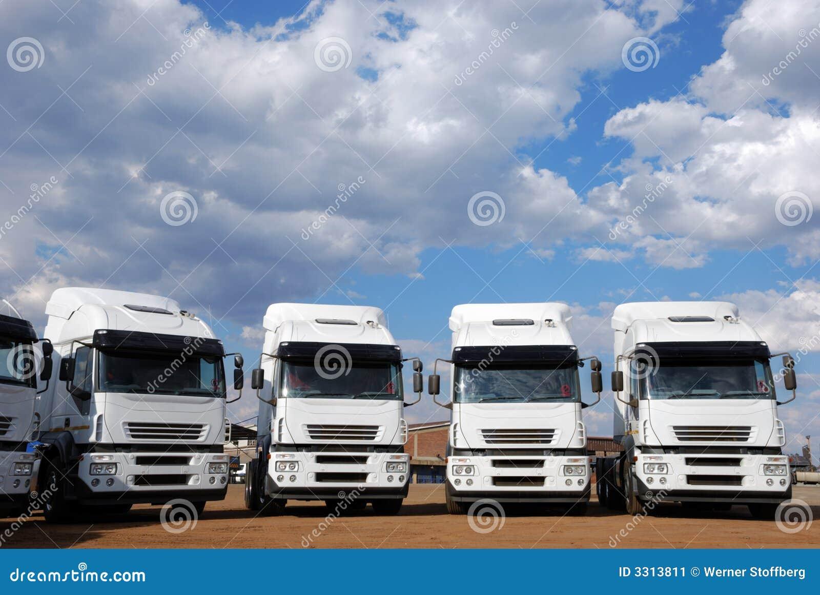 De Vrachtwagens van de lading