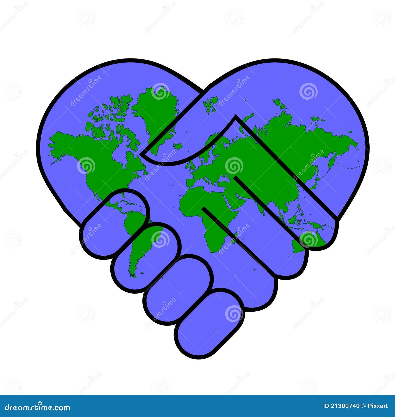 de vrede de wereld vector illustratie illustratie