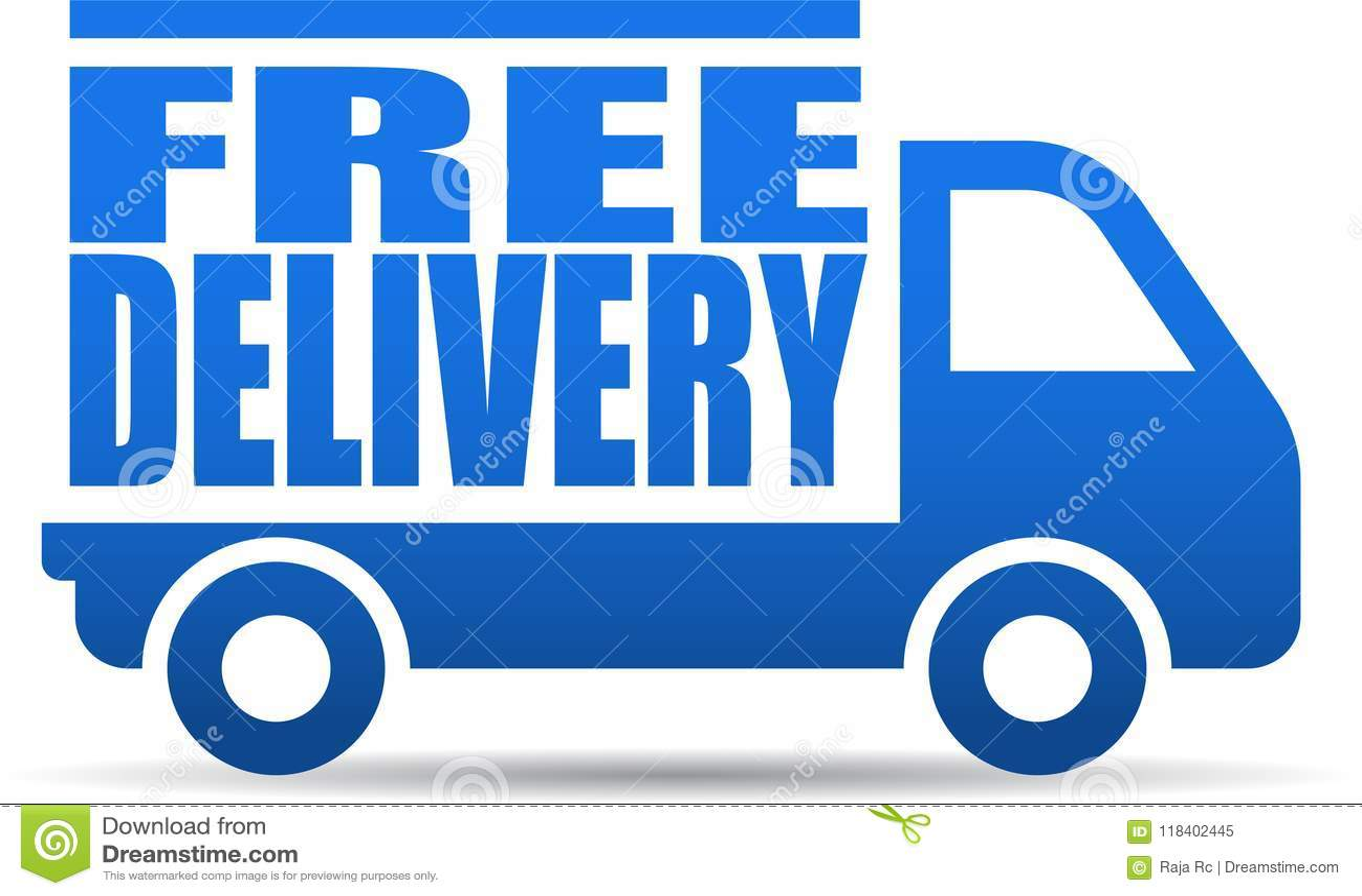 De vrije illustratie van de leveringsvrachtwagen