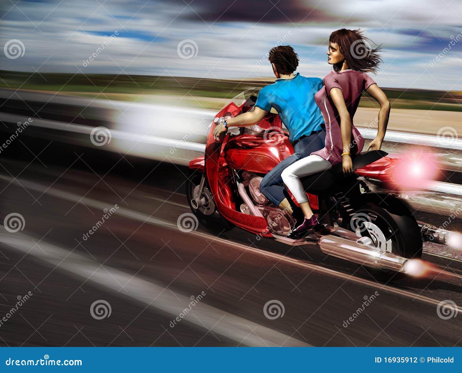 De vrijheid van de motorfiets