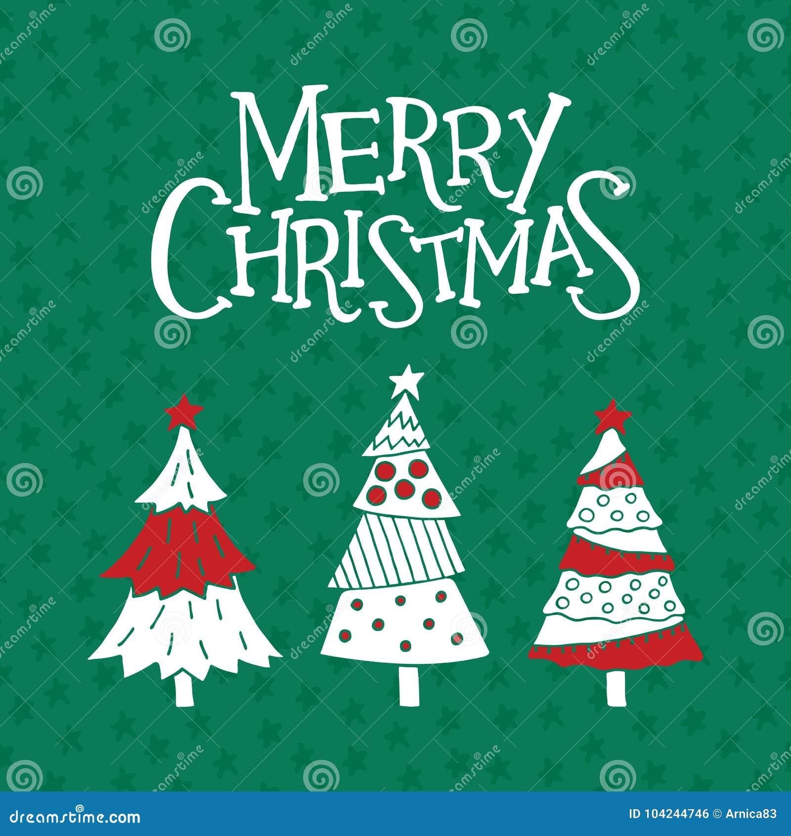 De vrolijke kaart van de Kerstmisgroet, affiche en banner