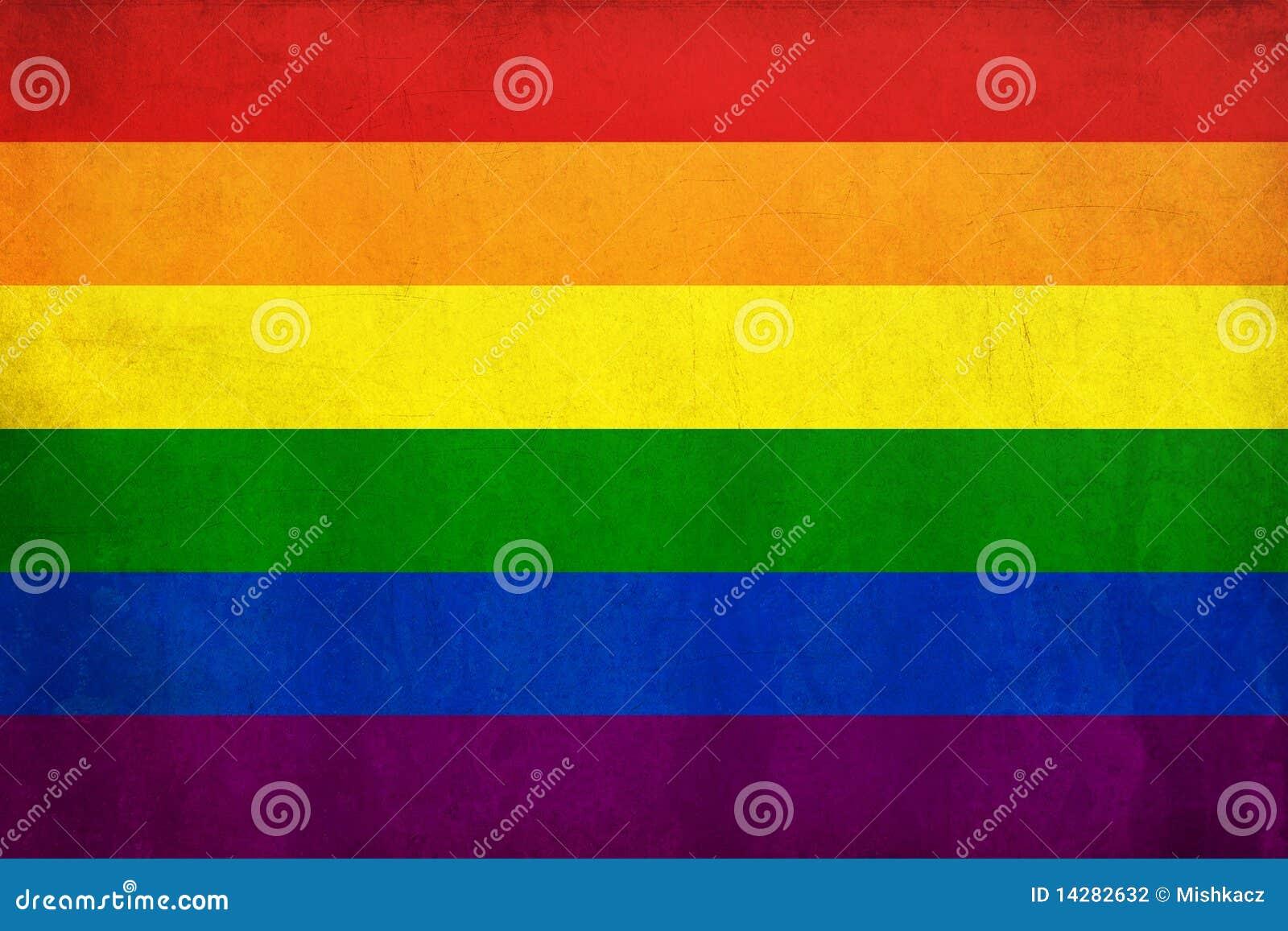 De vrolijke vlag van de regenboog