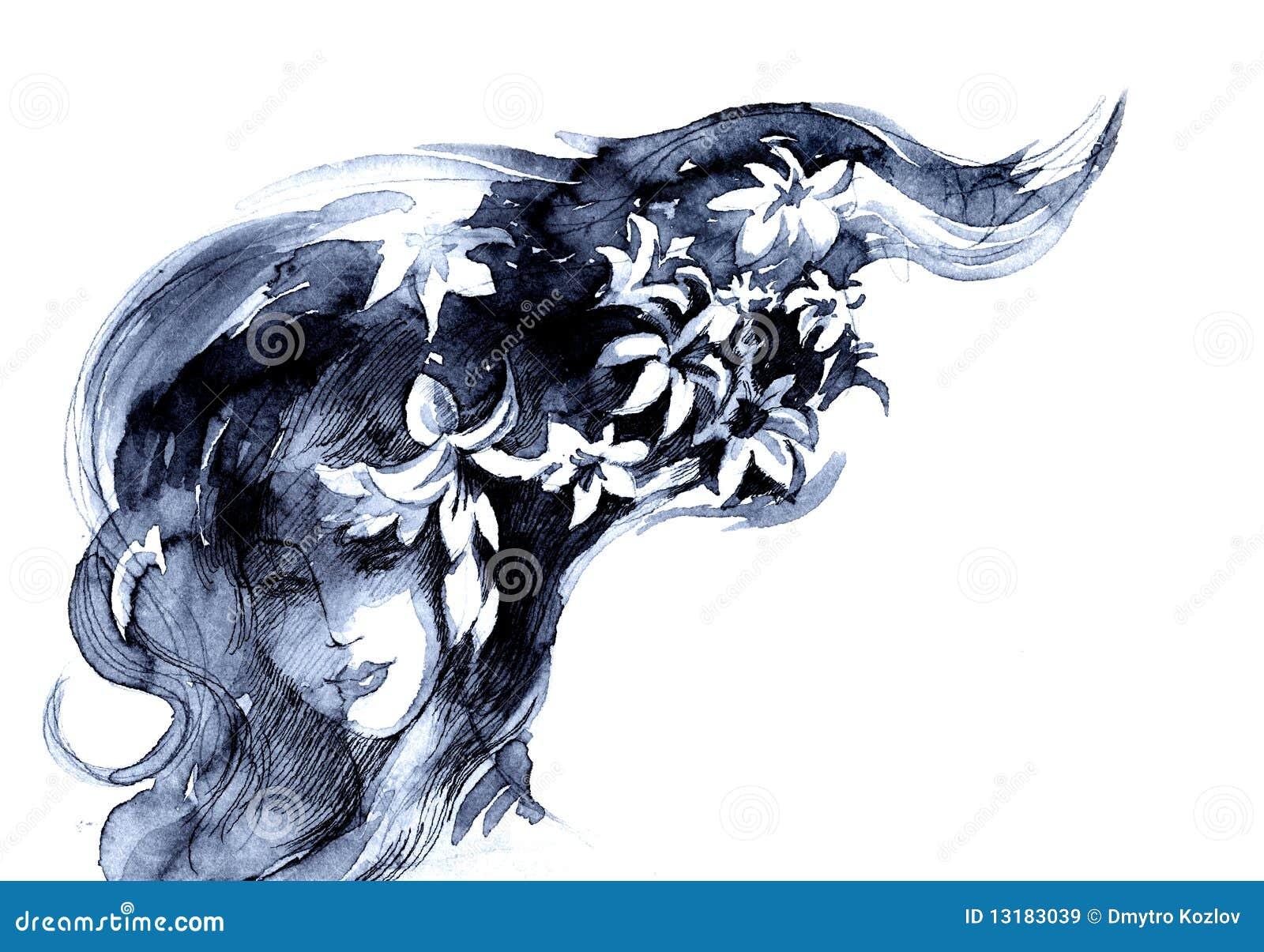 De vrouw van de bloei