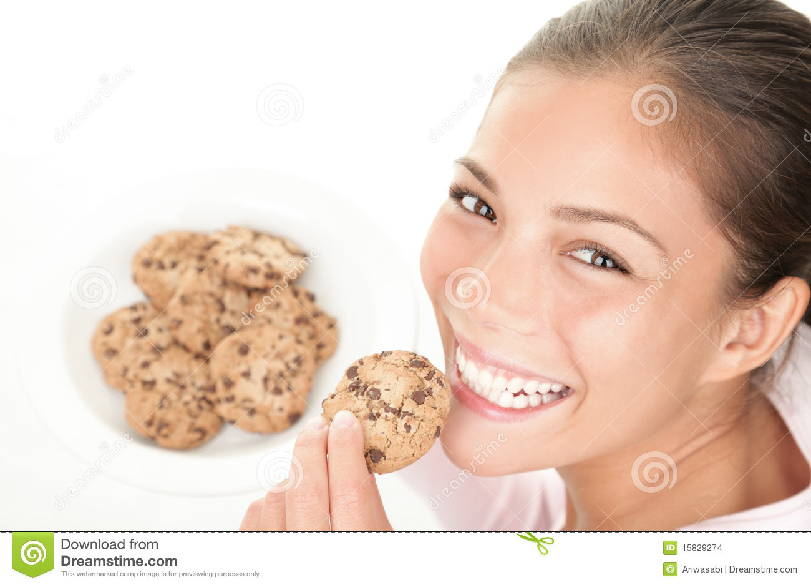 De vrouw van het koekje