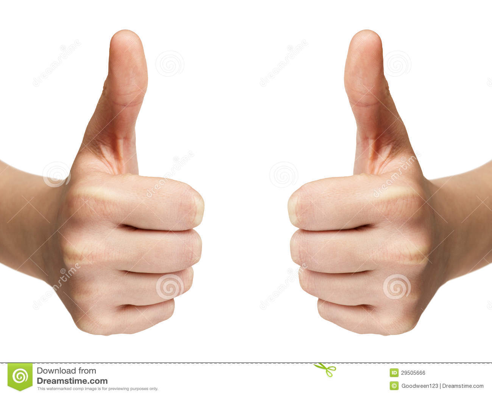 De vrouwelijke tiener overhandigt toont duimen
