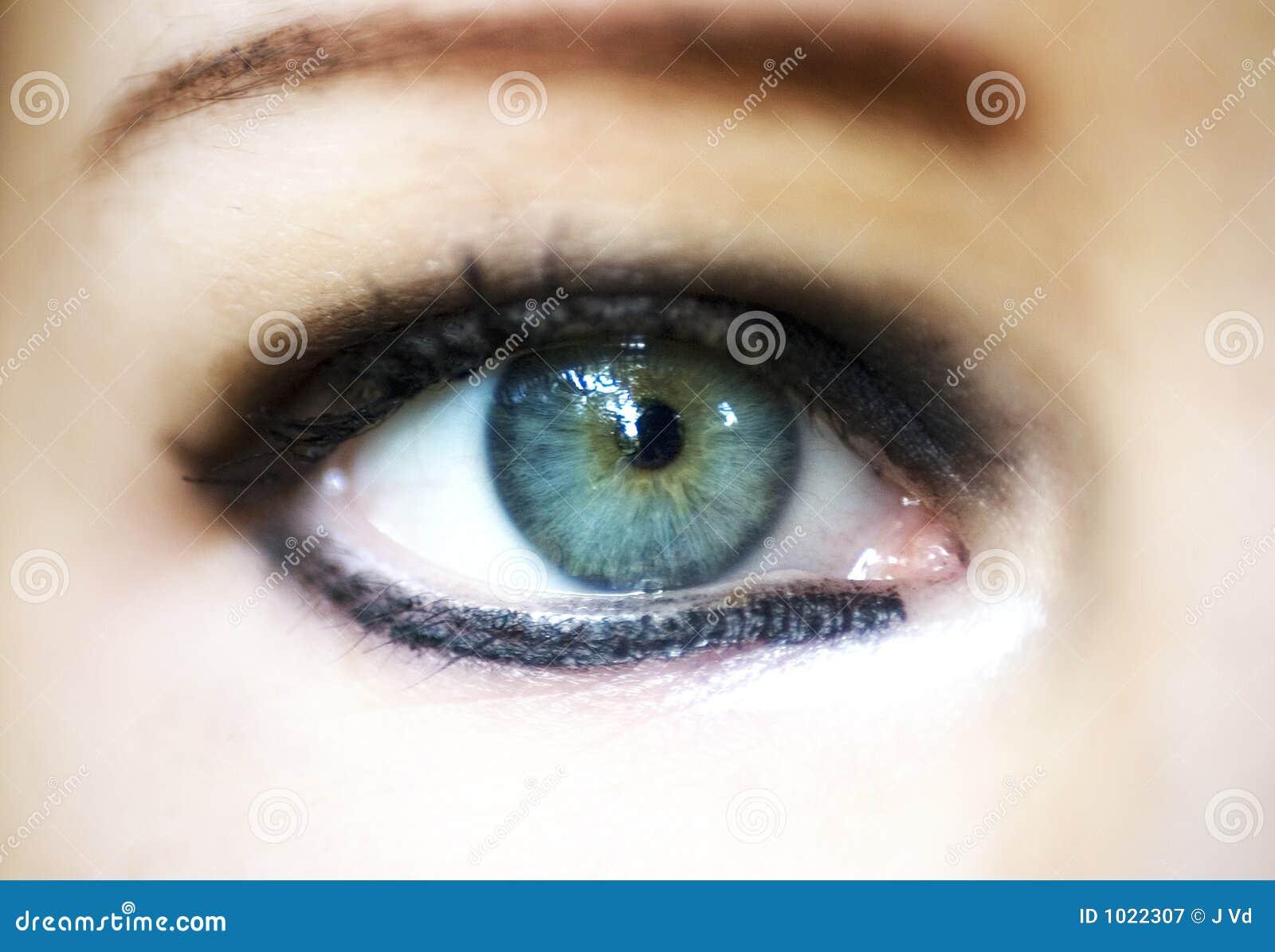 De vrouwenoog van de close-up