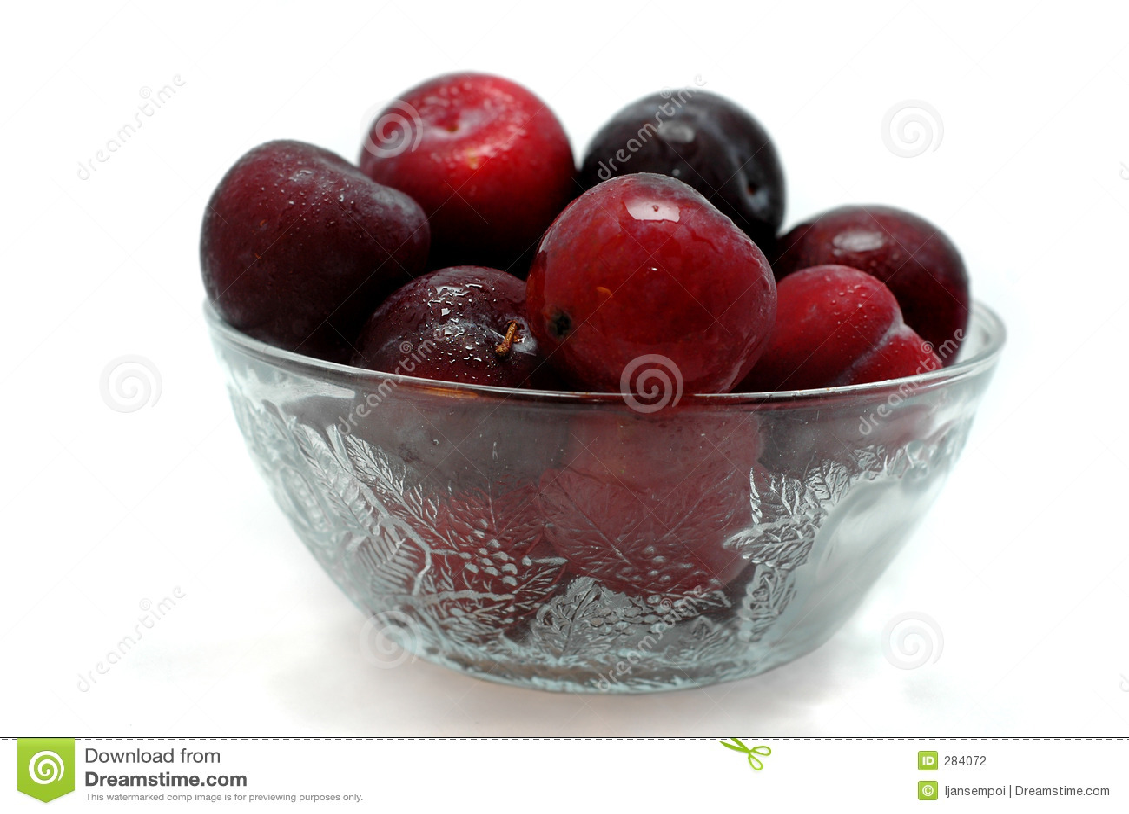 De vruchten van de pruim