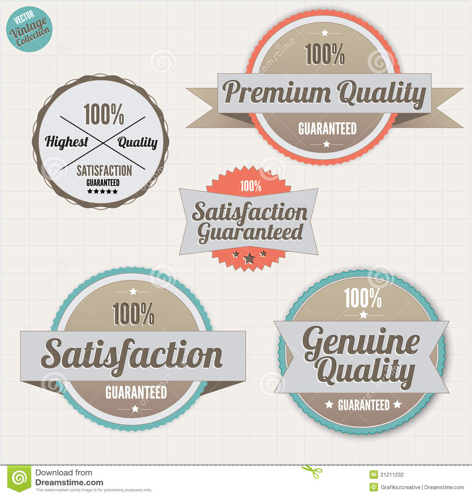 De waarborgkentekens van de kwaliteit en van de tevredenheid