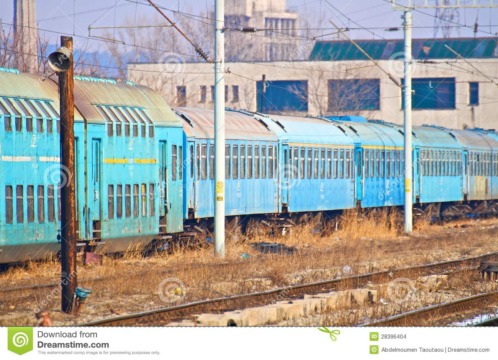 De wagen van de trein