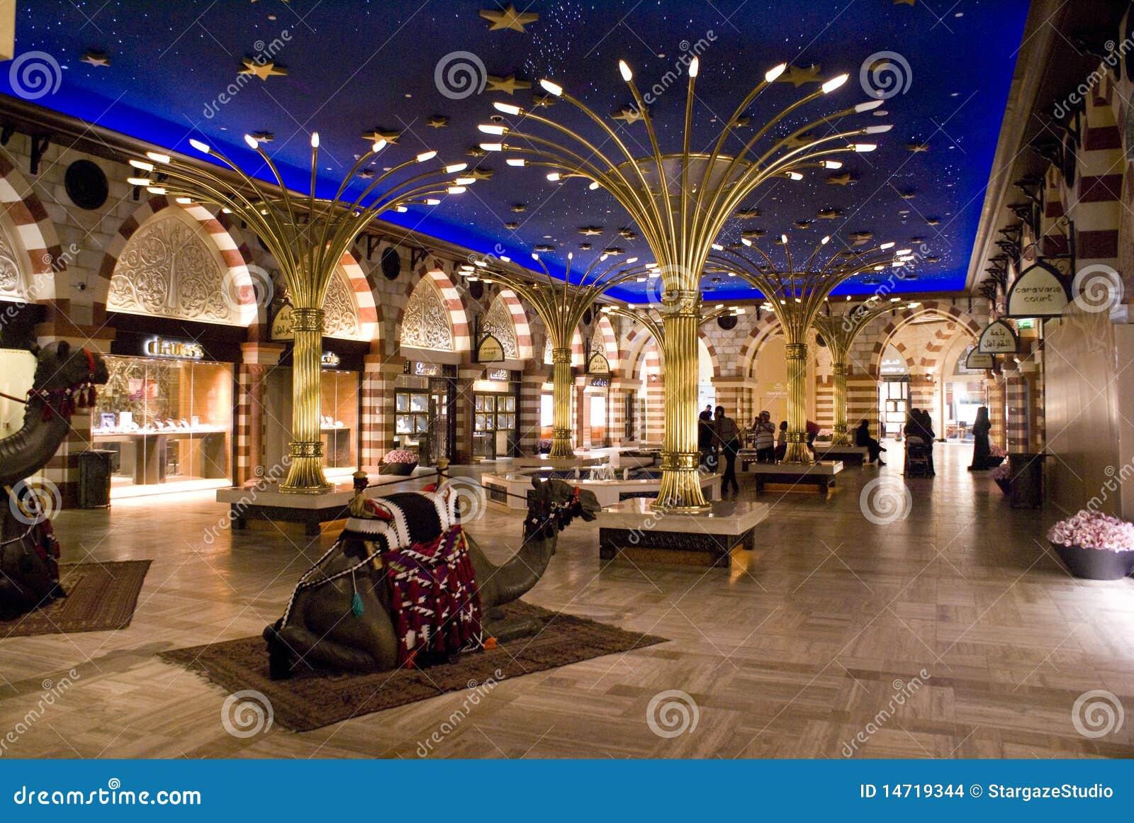 De Wandelgalerij van Doubai binnen goud souq