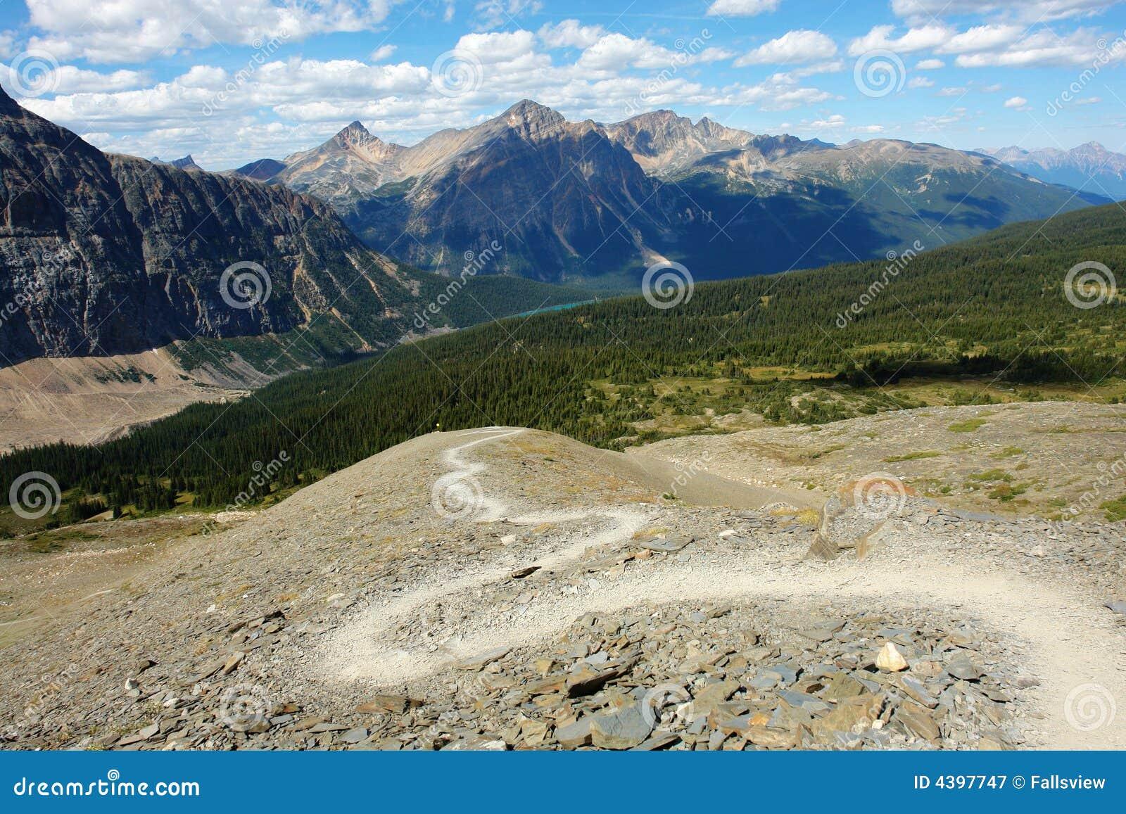 De wandelingssleep van de berg