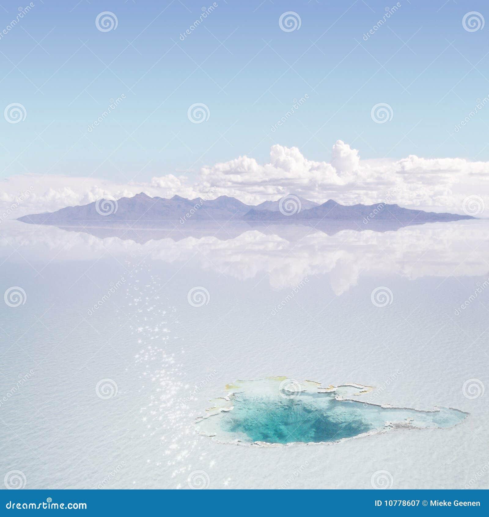 De warmwaterbron van het ijs
