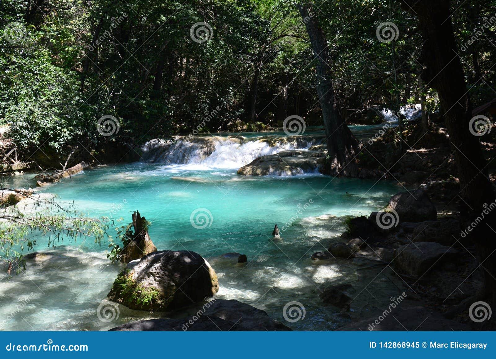 De Waterval Chiapas Mexico van Gr Chiflon