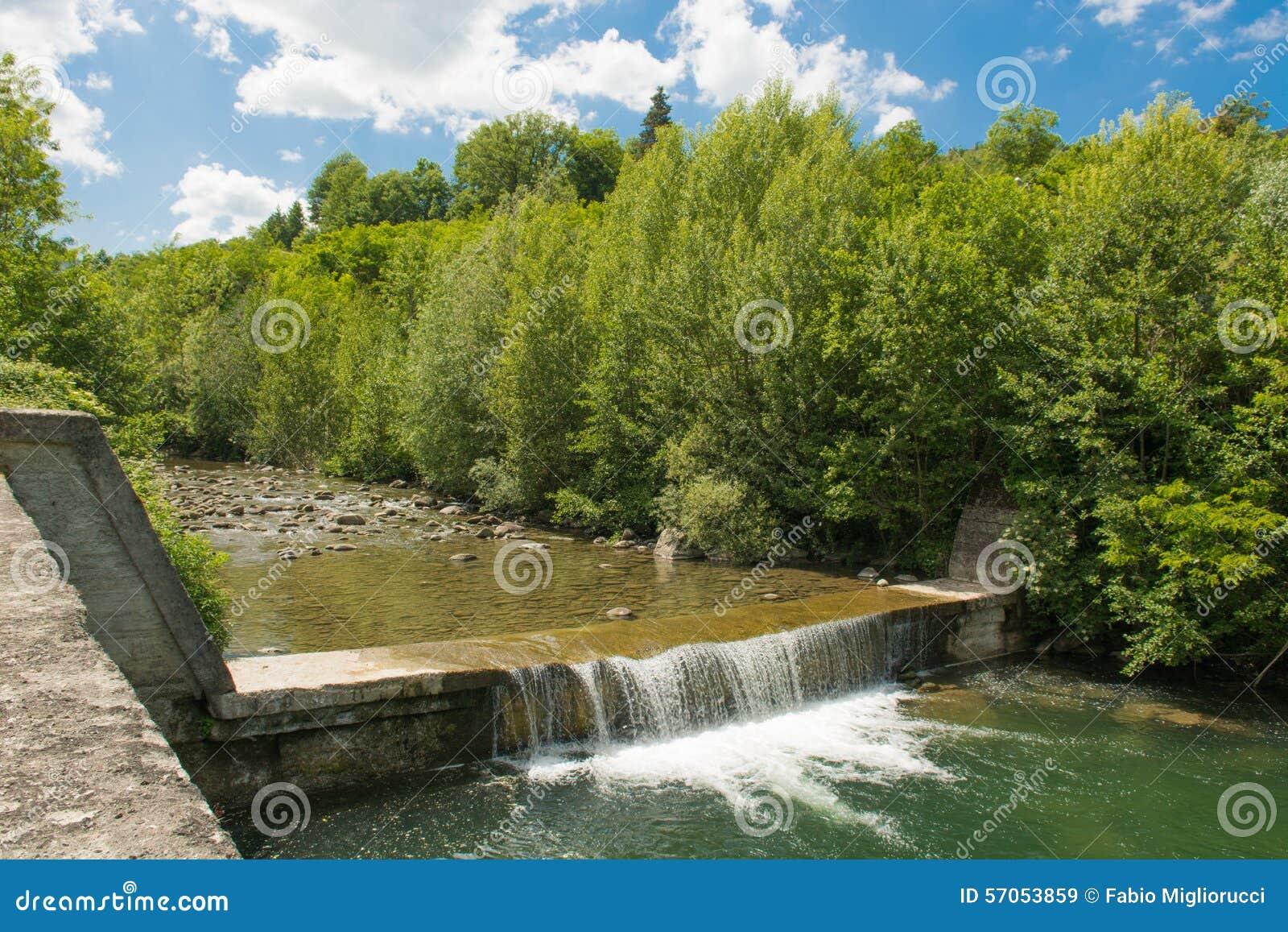 De waterval in de rivier