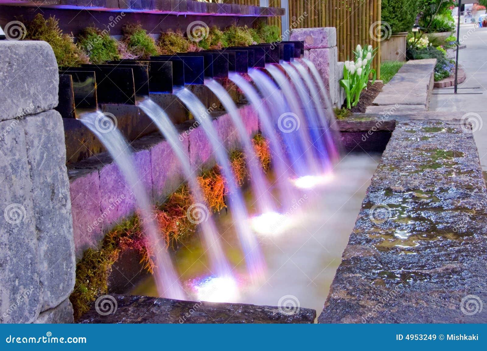 Waterval In Tuin : De waterval van de tuin stock afbeelding. afbeelding bestaande uit