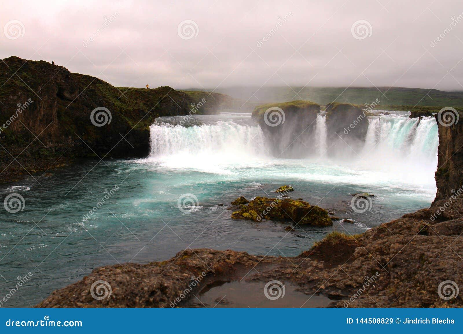 De waterval van Godafoss, IJsland