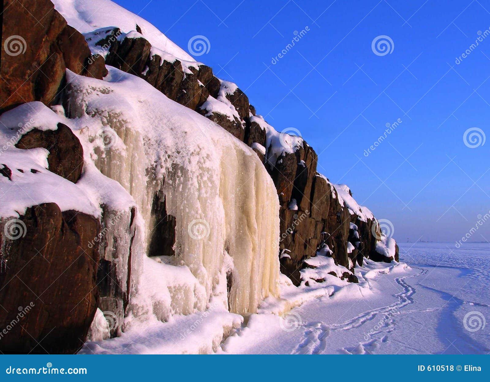 De waterval van het ijs