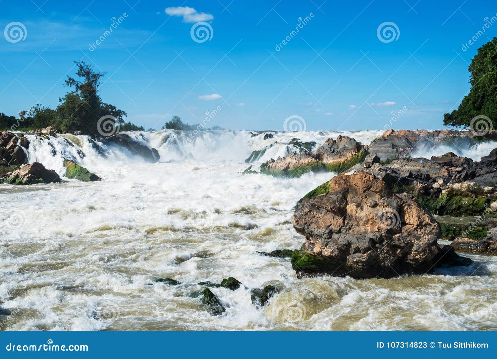 De Waterval van Khonephapheng, Don Khong, Loas