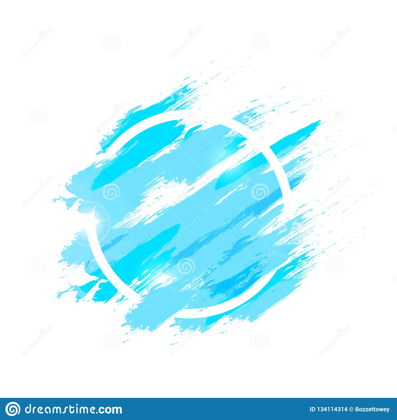 De waterverfplons met van het de achtergrond ringskader van de grungeborstel cirkel abstracte textuurillustratie, vloeistof ploet