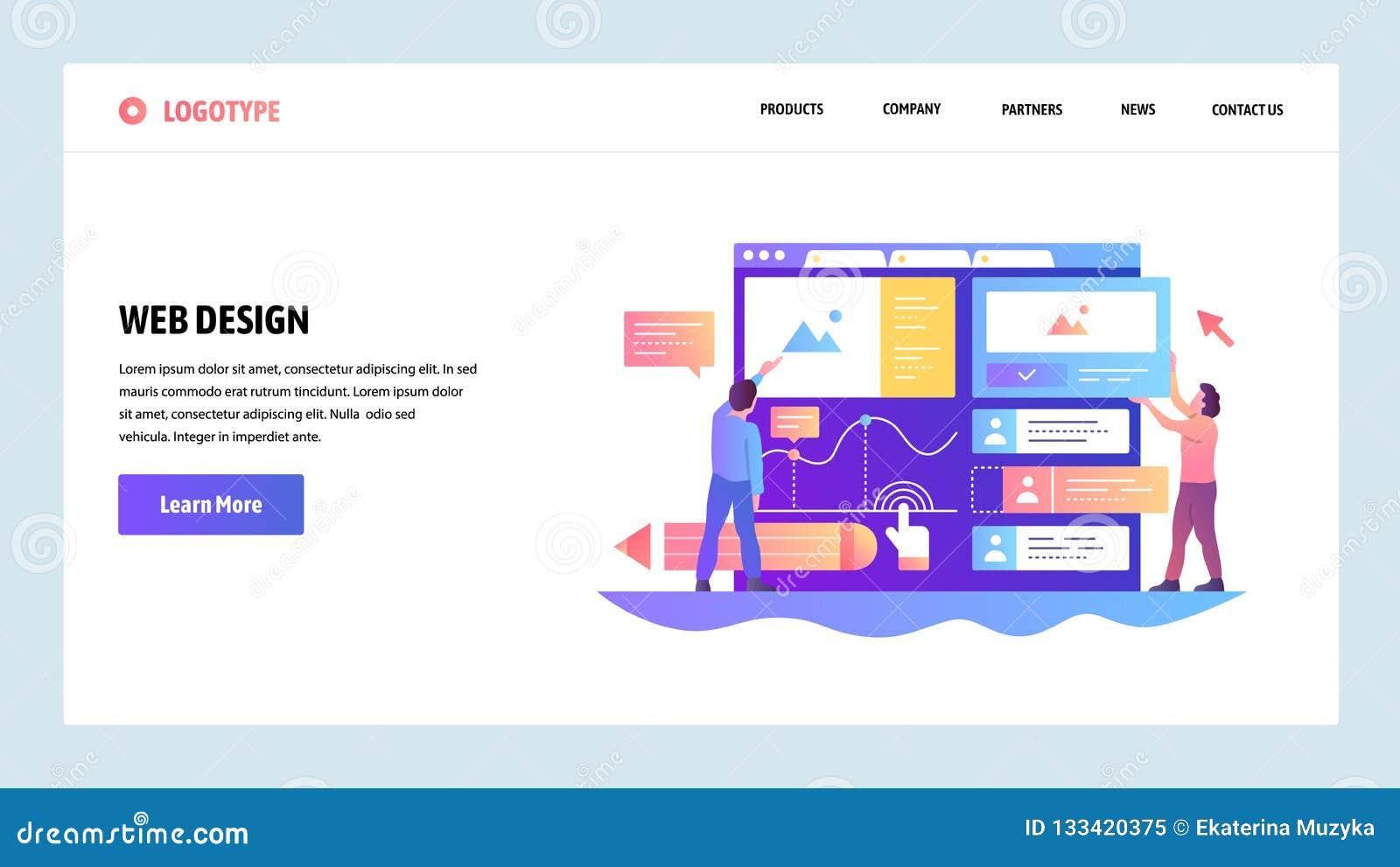 De website onboarding schermen Het team bouwt ux ui interface Malplaatje van de menu het vectorbanner voor website en mobiele toe
