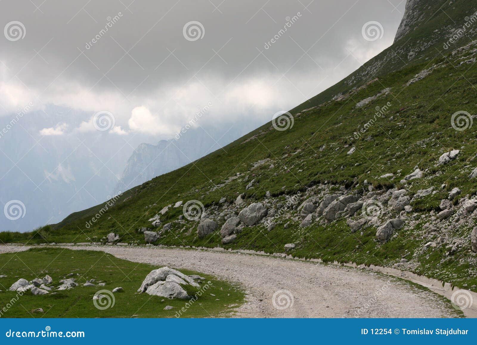 De weg van de berg