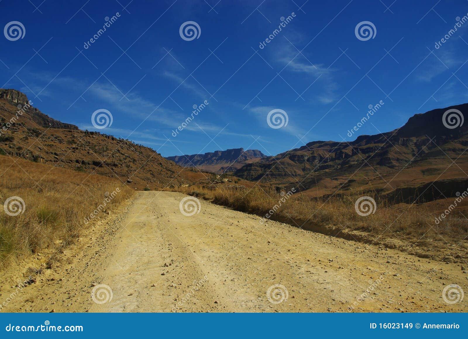 De weg van de Pas van Sani