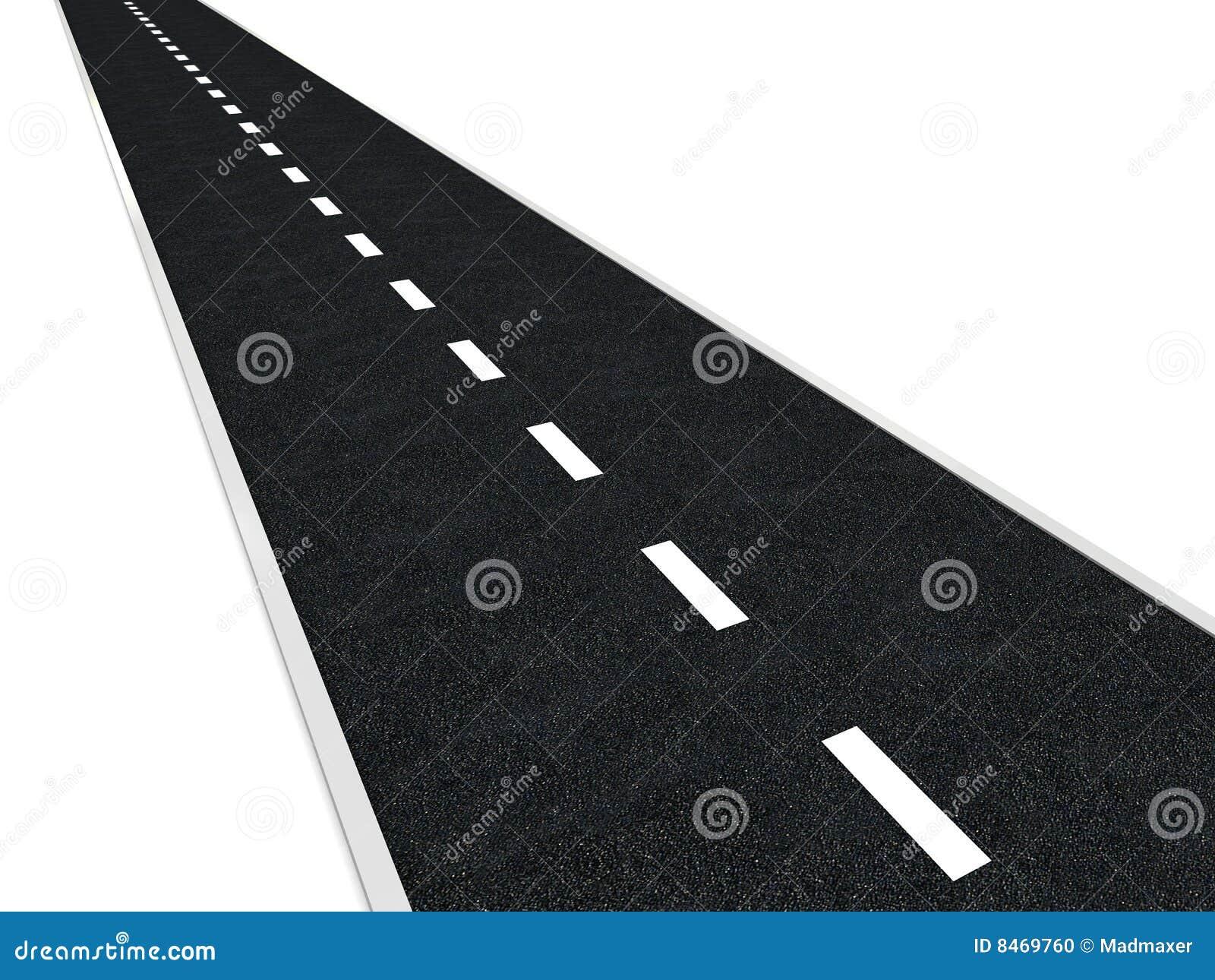 De weg van het asfalt
