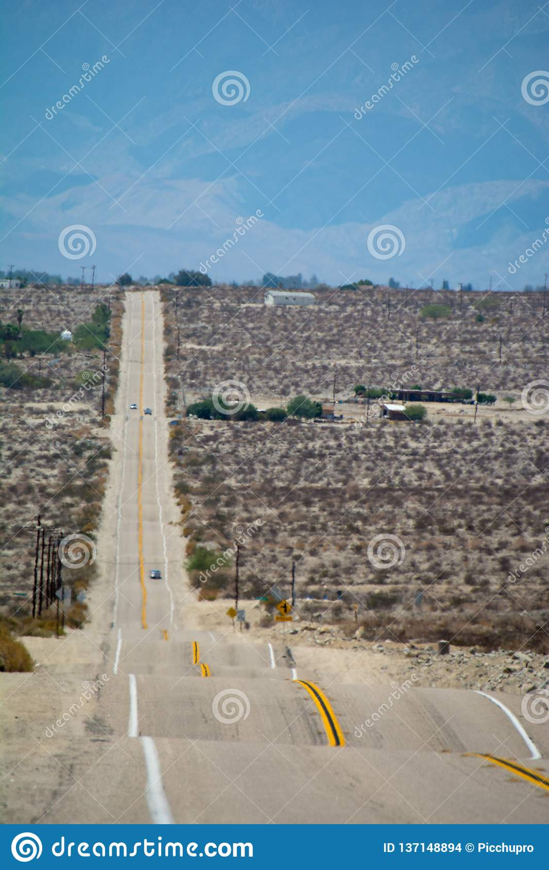 De Weg van de woestijnachtbaan