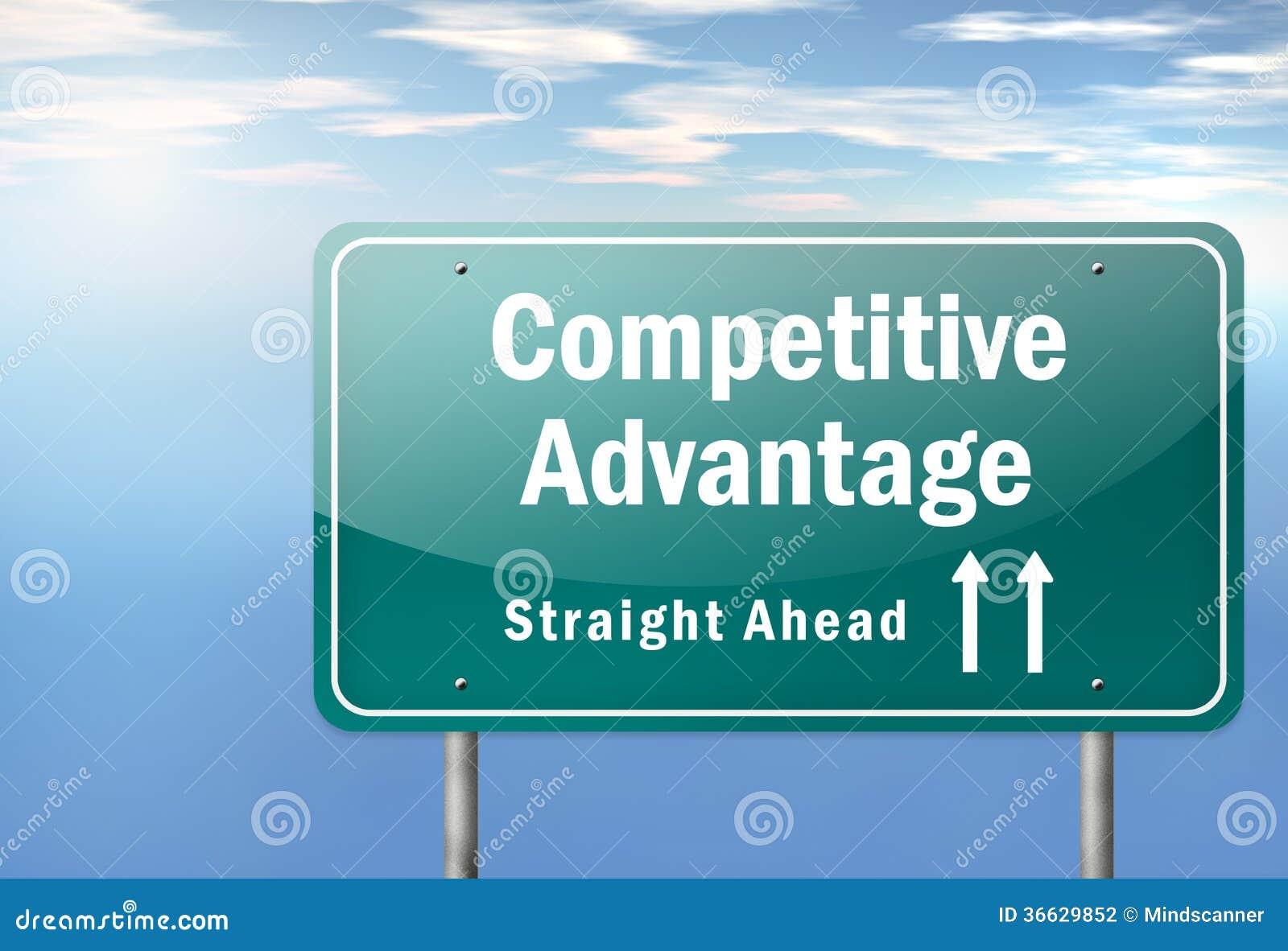 De weg voorziet Concurrentievoordeel van wegwijzers