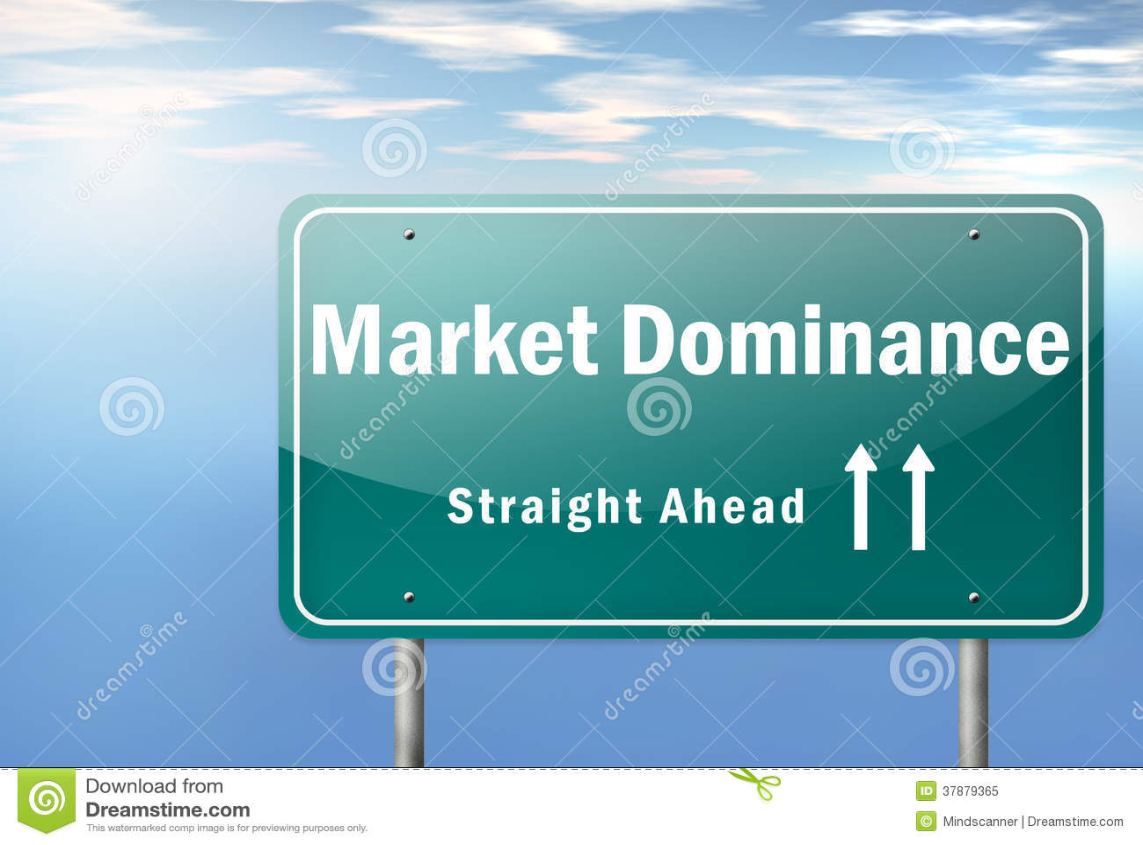De weg voorziet Marktoverheersing van wegwijzers