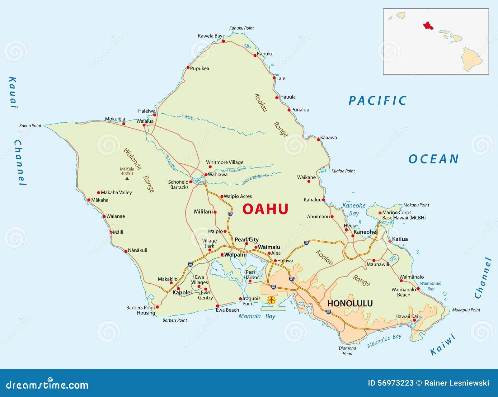 Zip Code Map Oahu Zip Code Map