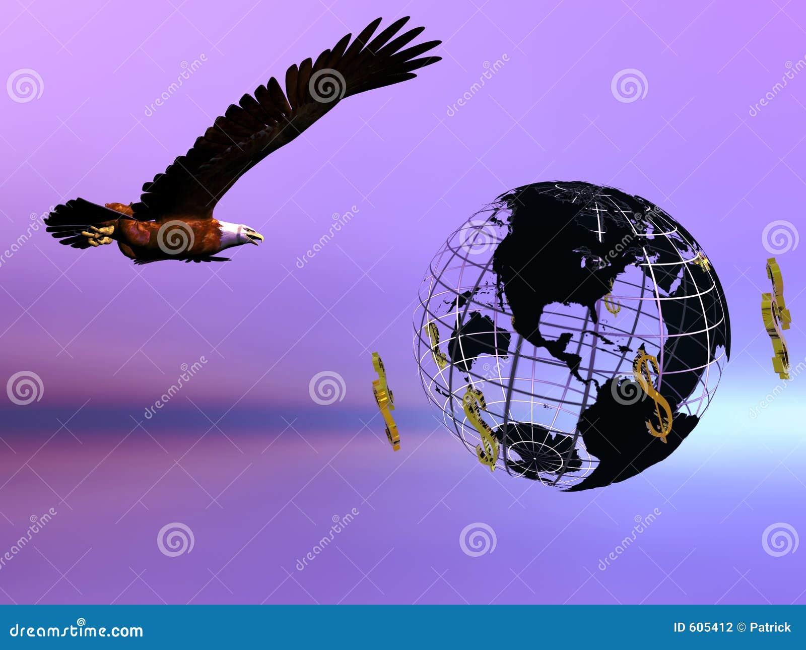 De wereld van de adelaar en van de dollar.