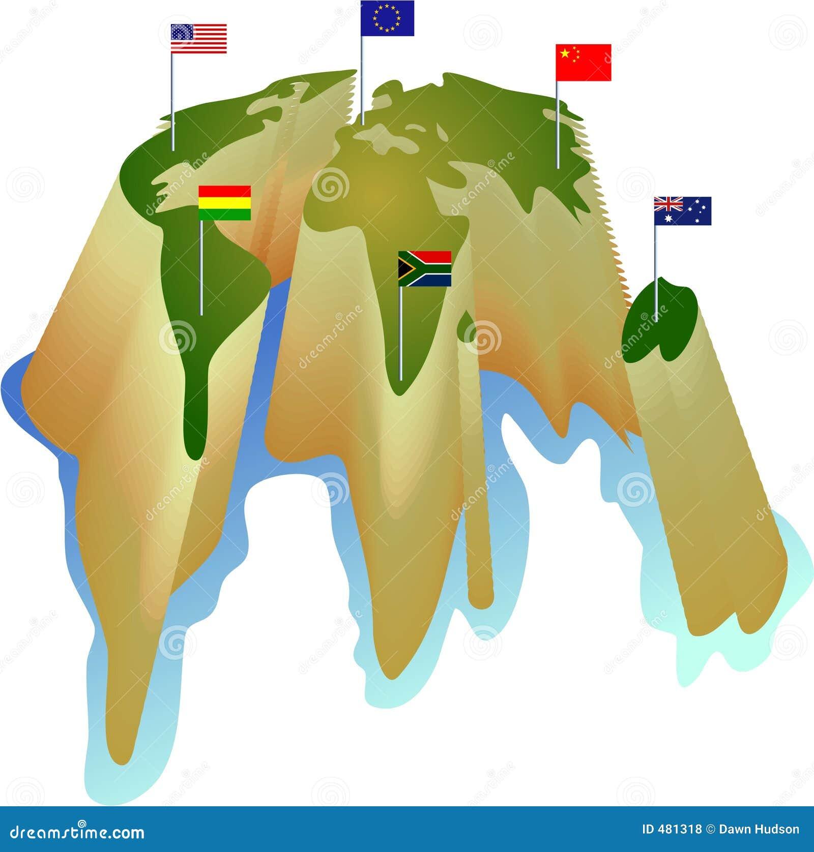 De wereld van de vlag