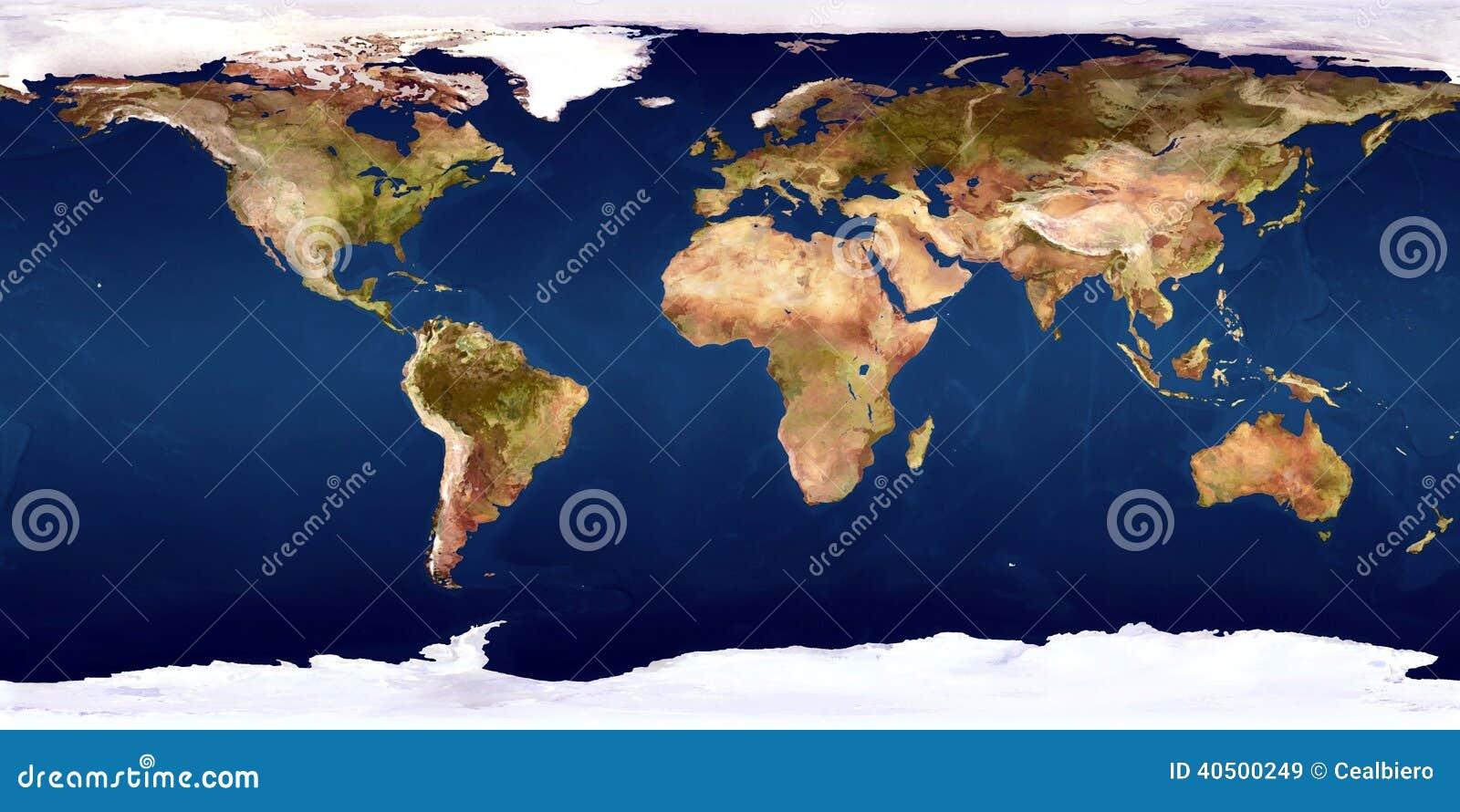 De wereldkaart
