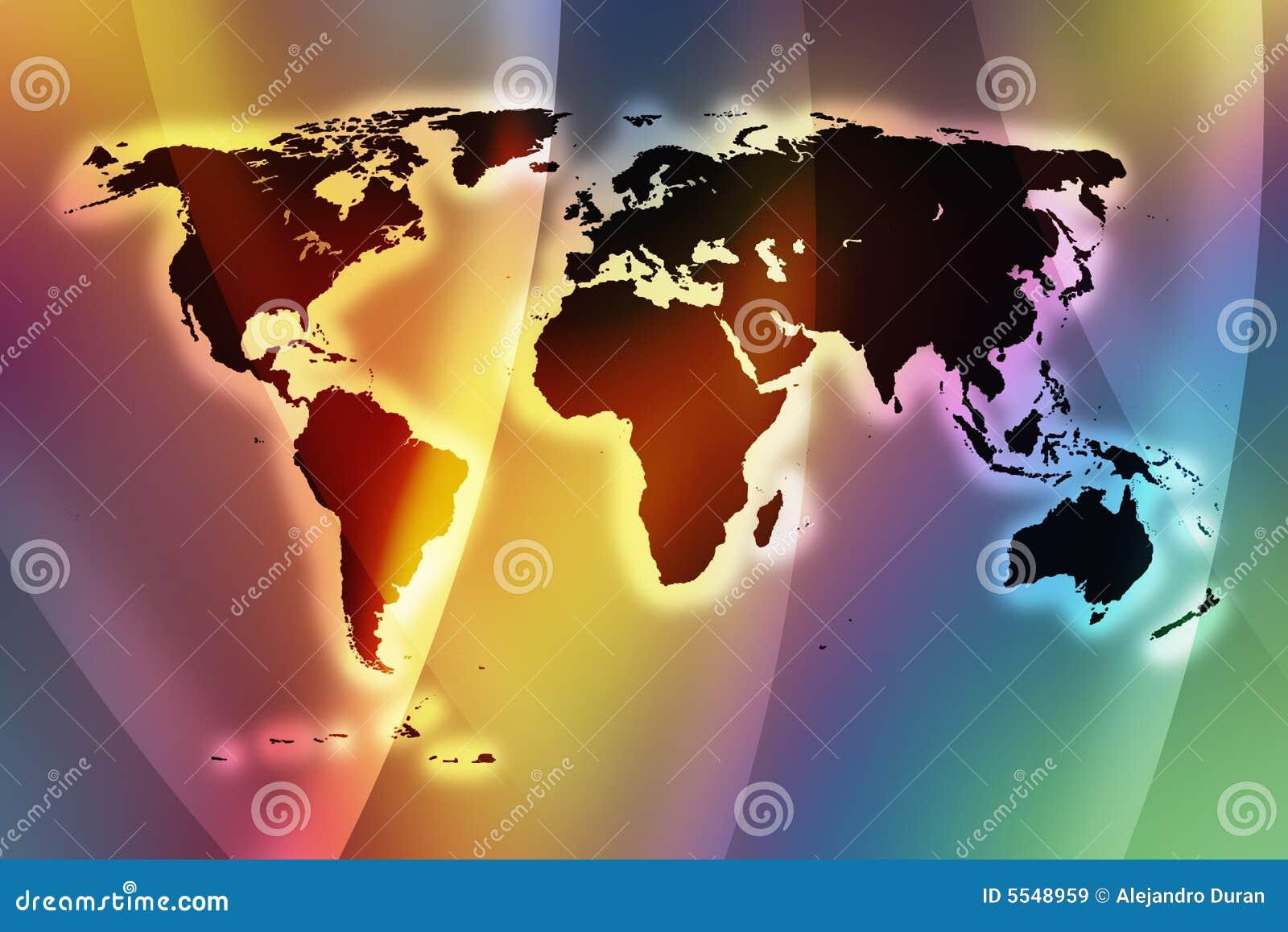 De wereldkaart II van de kleur