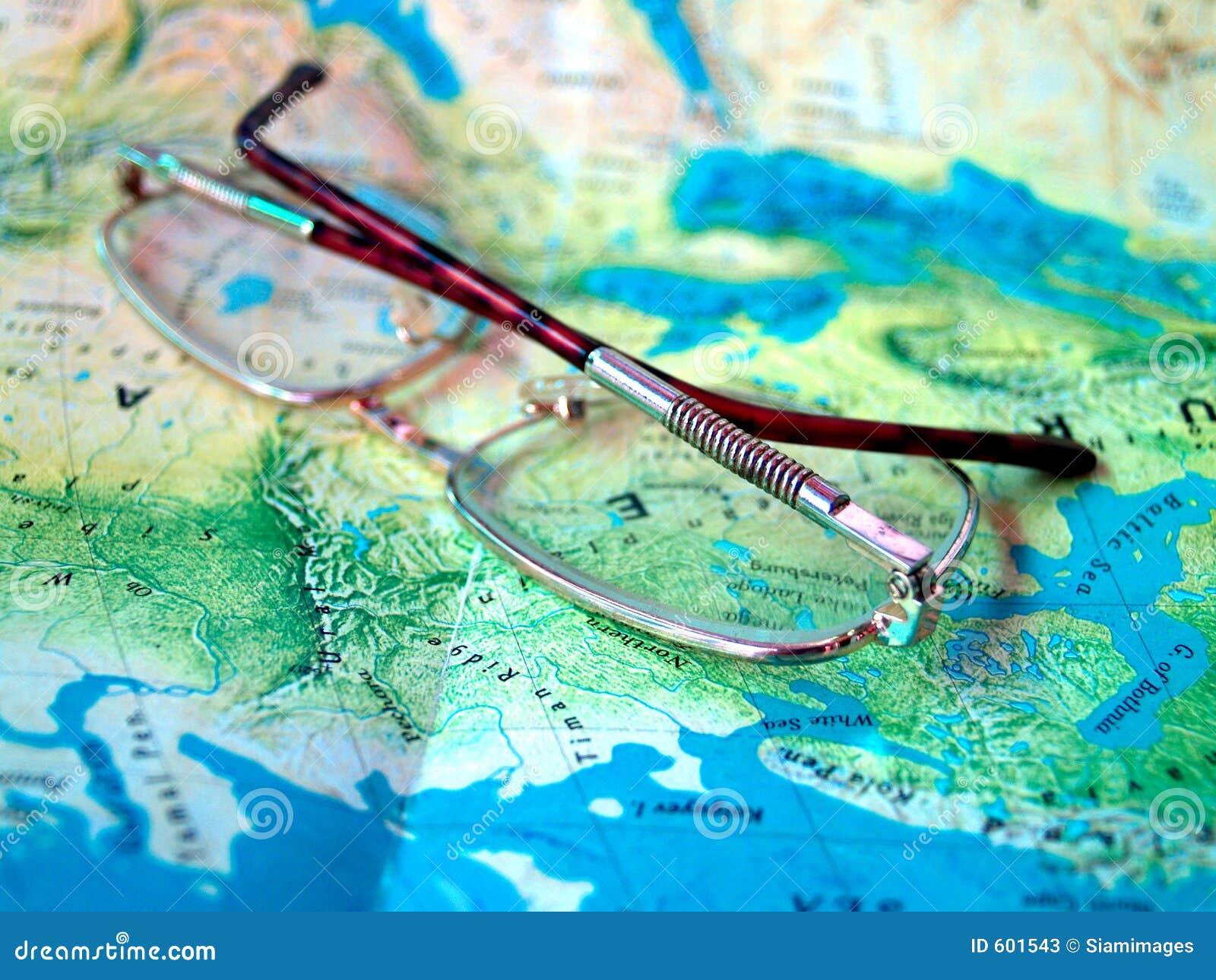 De wereldKaart van glazen