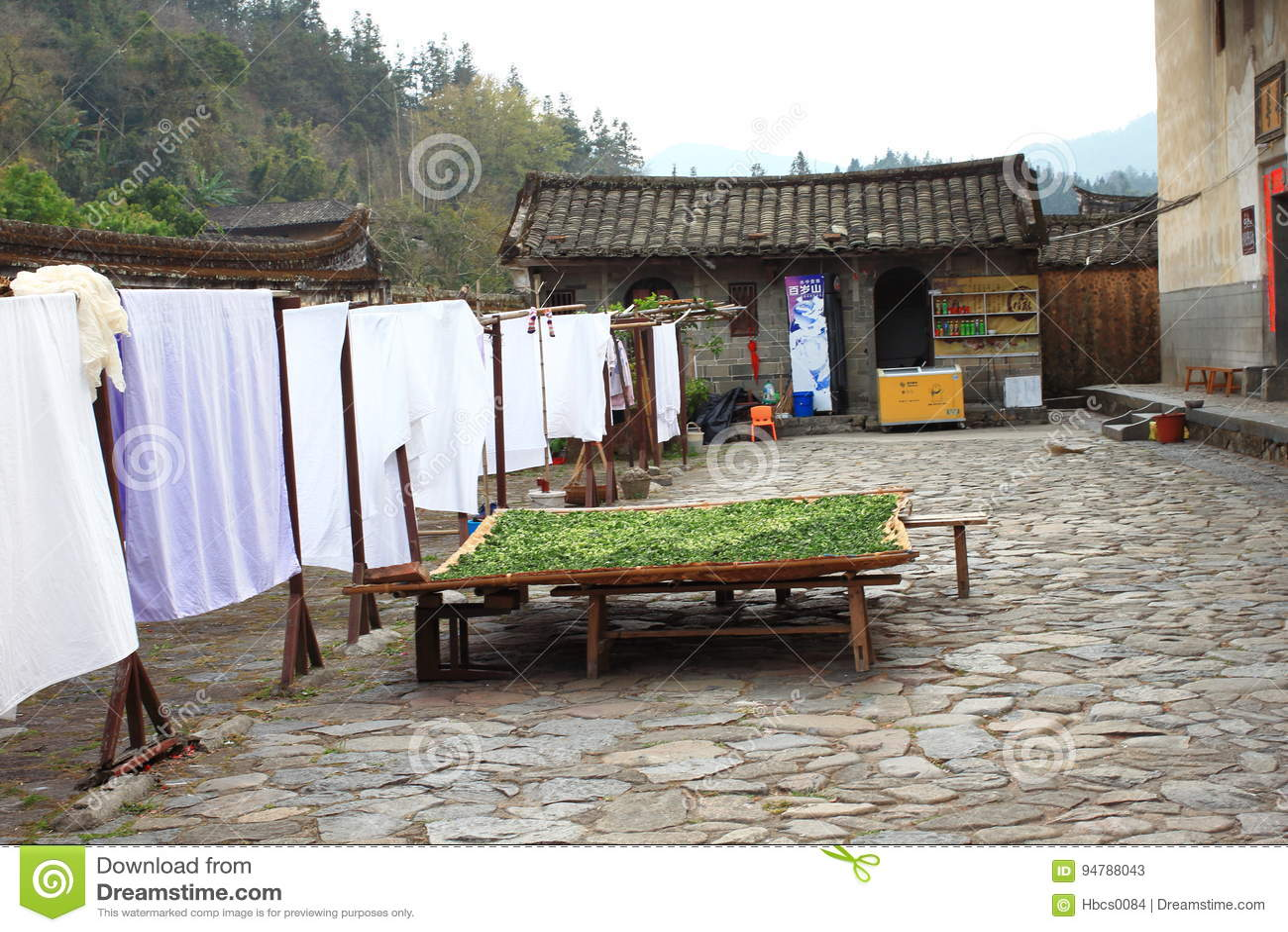 De werf van de aarden structuren van Fujian