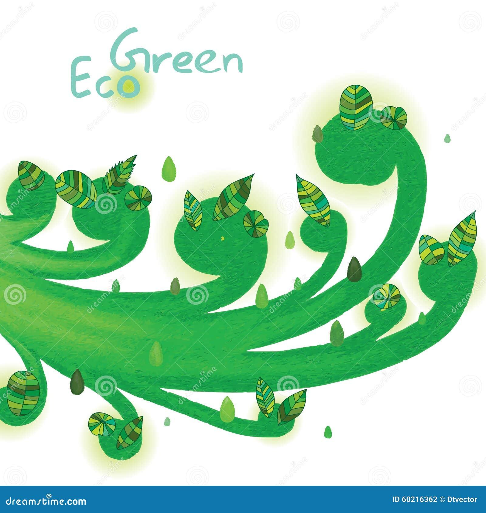 De werveling van de Eco groene installatie